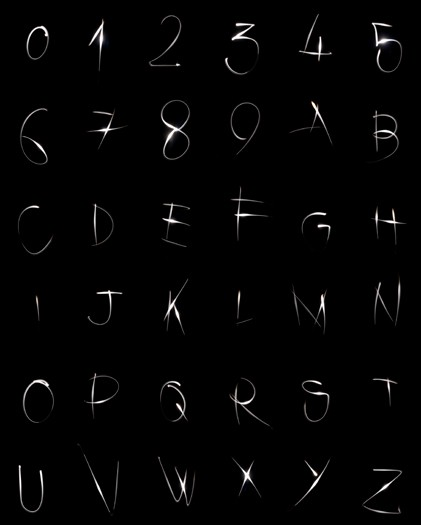 Light alphabet